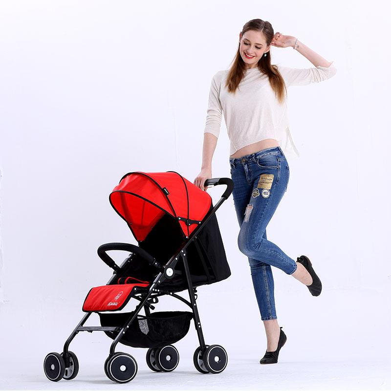 吉宝宝婴儿车轻便折叠超轻小便携式避震可坐可躺高景观婴儿手推车7200