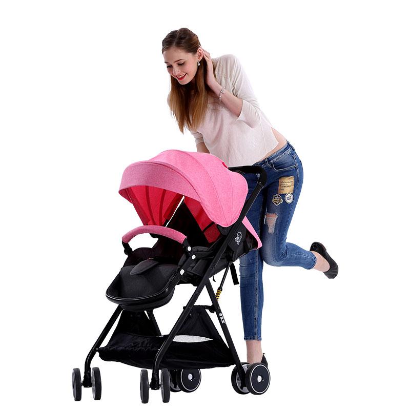 吉宝宝婴儿推车新生可坐可躺轻便折叠超轻小便携四季高景观婴儿车7100