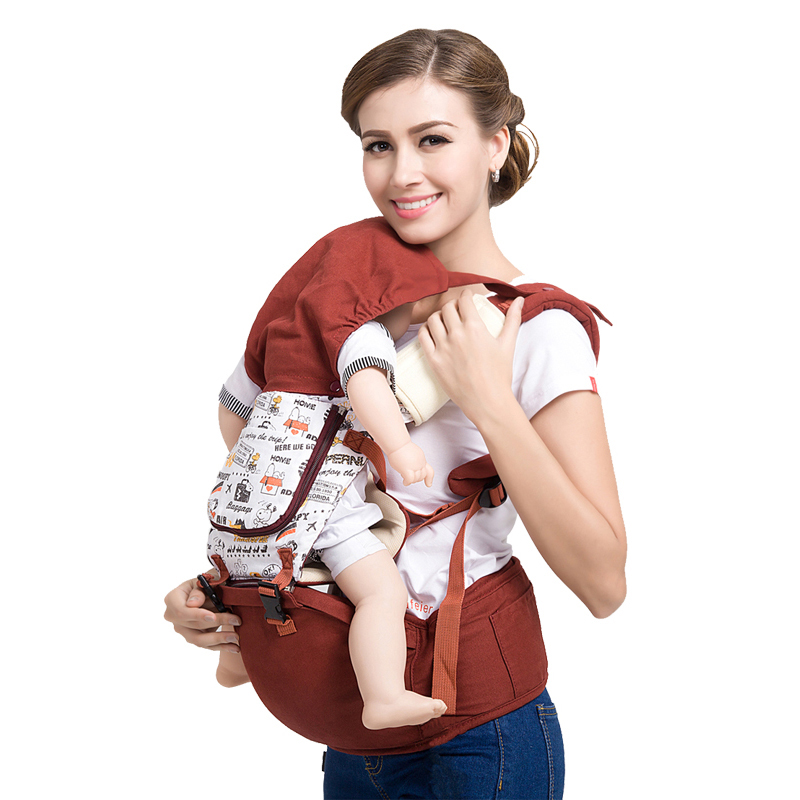 吉宝宝可坐可躺可抱婴儿背带